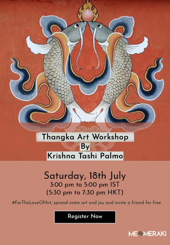 18TH JULY: ONLINE THANGKA ART WORKSHOP BY KRISHNA TASHI PALMO