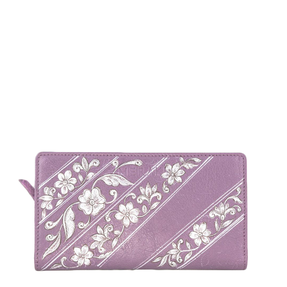 Flowers (Purple wallet)