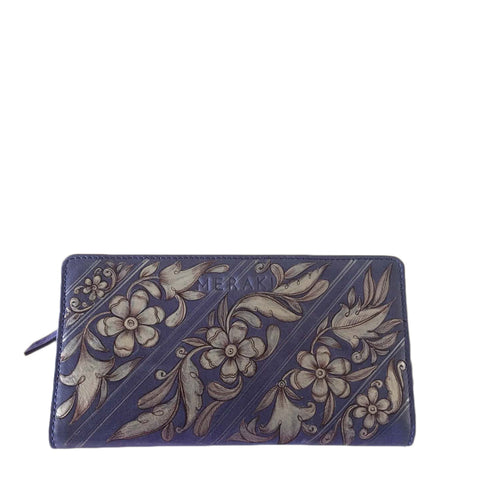 The Peacock, Handpainted Tan Wallet