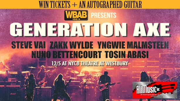 GENERATION AXE: Win free tickets and a signed guitar!