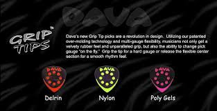 Dava Grip Tips Guitar Picks Nylon Gel Delrin Differences In Feel and Tone Review