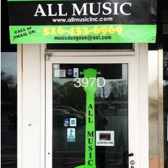 All Music Inc. Is Now Open M-F 10-8 and Sat 10-4 (516)433-6969