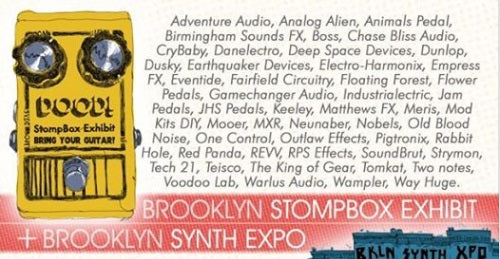 COME SEE US THIS WEEKEND AT THE BROOKLYN STOMPBOX EXHIBIT!!!
