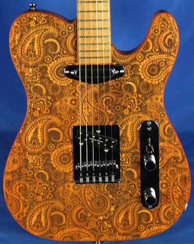 All Music Inc USA Private Collection #8 Custom Paisley Tele Electric Guitar
