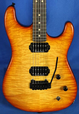 All Music Inc USA Private Collection #10 Custom Quilt Top Strat Electric Guitar