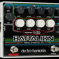 Electro-Harmonix EHX USA Battalion Electric Bass Guitar Preamp D.I. Effect Pedal