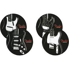 Fender Classic Guitars Coaster Set, 4 Pack