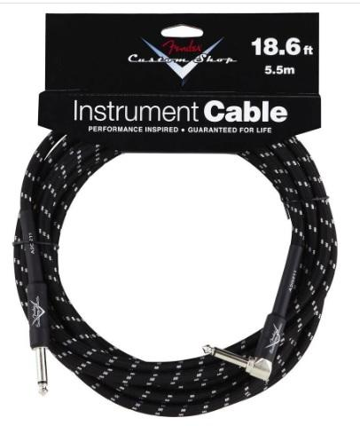 Fender Custom Shop FG186BSL Electric Guitar Cable Black 099-0820-038
