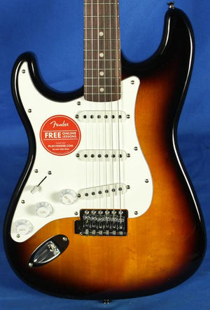 Fender Squier Affinity Stratocaster Strat Lefty Electric Guitar Sunburst