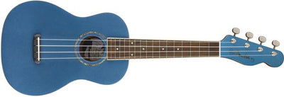 Fender Zuma Concert Ukulele Uke Guitar Lake Placid Blue