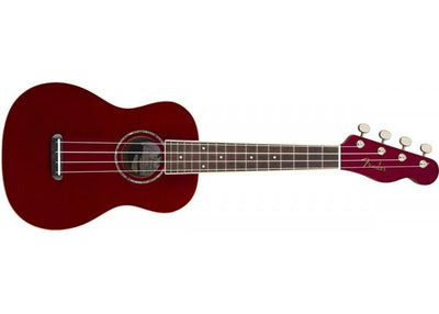 Fender Zuma Concert Ukulele Uke Guitar Candy Apple Red