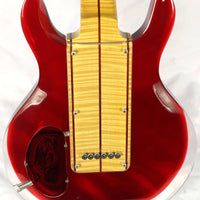 Used George Fedden Acrylic Offset Strat Electric Guitar Highly Flamed Neck Red/Clear