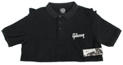 Gibson Guitars Logo Small Polo Shirt Black