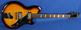 Supro Island Series Westbury Flame Top Electric Guitar Tobacco Sunburst