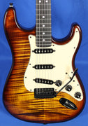 All Music Inc. Warmoth Private Collection #9 Custom Flame Top Strat Electric Guitar