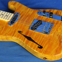 All Music Inc USA Private Collection #11 Semi-Hollow Flamed Tele Electric Guitar