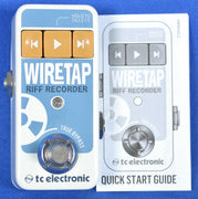 TC Electronic Wiretap Riff Recorder 24 Bit Electric Guitar Recording Pedal