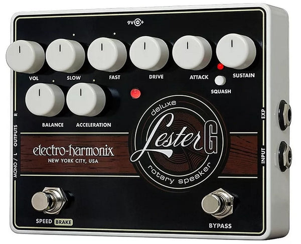 Electro-Harmonix EHX Lester-G Rotary Speaker Emu Electric Guitar Pedal