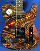 Moxy Guitars USA Custom Steampunk Tele Electric Guitar w/ Gig Bag Swirl Finish