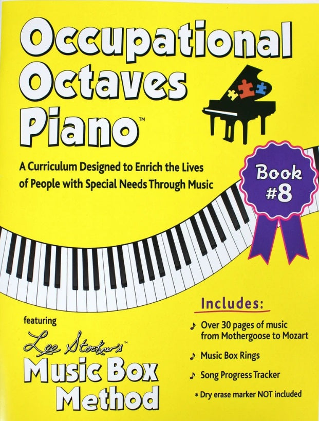 Occupational Octaves Piano Book Special Needs Learning Music /& Rings Book 1