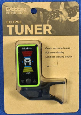 Planet Waves PW-CT-17GN Eclipse Chromatic Clip-On Guitar Tuner Green