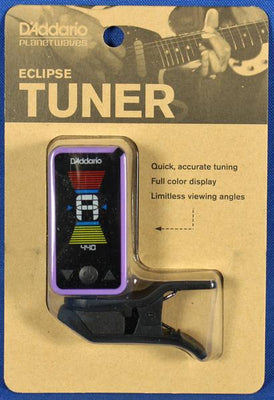 Planet Waves PW-CT-17PR Eclipse Chromatic Clip-On Guitar Tuner Purple