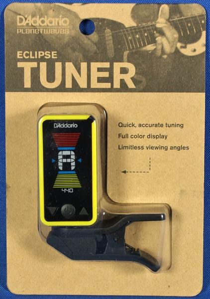 Planet Waves PW-CT-17YL Eclipse Chromatic Clip-On Guitar Tuner Yellow