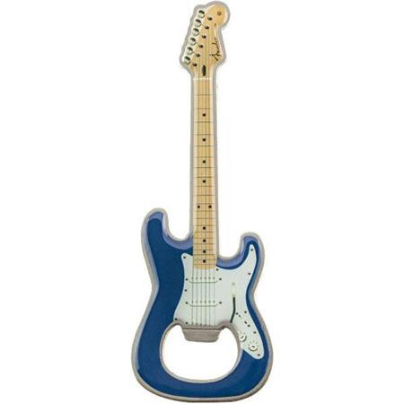 Fender Stratocaster Bottle Opener Magnet Blue