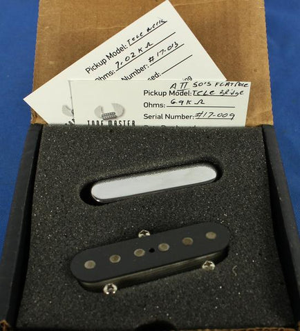 Tone Master USA Hand-Wound Broadcaster Tele Electric Guitar Pickup Set Alnico 2