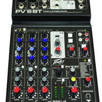 Peavey PV6BT 6 Channel Mixer with Bluetooth and Effects