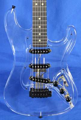 All Music Inc USA Private Collection #14 Acrylic Clear Strat Electric Guitar
