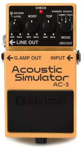 Boss AC-3 Acoustic Simulator Electric Guitar Effect Effects Pedal
