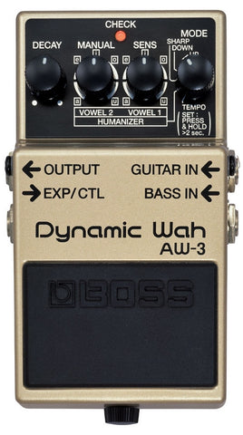 Boss AW-3 Dynamic Wah Electric Guitar and Bass Effects Pedal