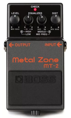 Boss MT2 MT-2 Metal Zone Overdrive Distortion Electric Guitar Effect Effects Pedal