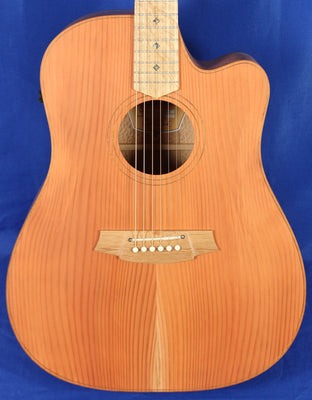 Cole Clark FL2EC-RDSO Redwood & Silky Oak Solid Wood Acoustic Electric Guitar