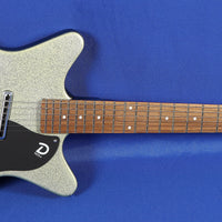 Danelectro 59M Mod NOS+ Silver Metal Flake Electric Guitar