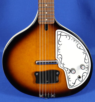 Danelectro Baby Sitar Tobacco Sunburst 6 String Electric Guitar
