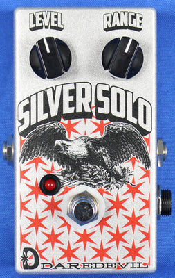 Daredevil USA Silver Solo Boost Effect Effects Pedal for Electric Guitar