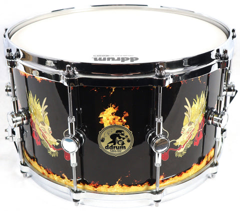 Ddrum Vinnie Paul Signature Dragon 8x14 Snare Drum Drums Percussion Pantera
