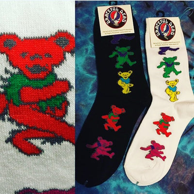 Grateful Dead Dancing Bear Socks (Mulitple Colors)