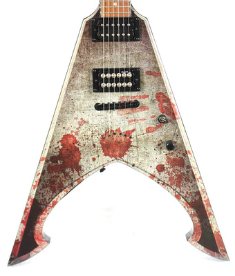 Dean Michael Amott Tyrant X Battle Axe Set Neck Flying V Electric Guitar