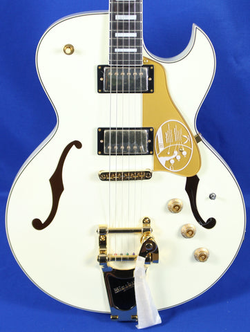 Dean Colt Standard Piezo Bigsby Semi-Hollow Vintage White Electric Guitar