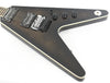 Dean V-79 Flame Top Flying V Floyd Rose Trans Black Electric Guitar