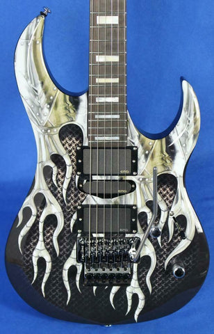 Dean Michael Batio MAB1 Armored Flame Electric Guitar w/ Floyd Rose *Signed*