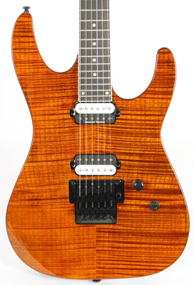 Dean Modern 24 Select Flame Top Tiger Eye Electric Guitar Floyd Rose