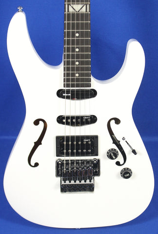 Dean Vinnie Moore Signature Semi-Hollow Classic White Electric Guitar