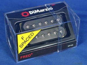DiMarzio DP153 Fred Satriani  F-Spaced Humbucker Guitar Bridge Pickup Black