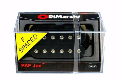 DiMarzio DP213 PAF Joe Satriani Humbucking F-Spaced Electric Guitar Pickup - Black