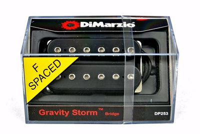 DiMarzio DP253-FBK Gravity Storm Humbucking F-Spaced Guitar Bridge Pickup
