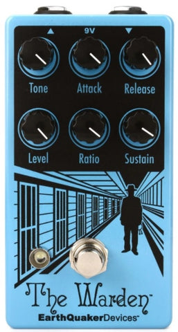 EarthQuaker Devices The Warden V2 Optical Compressor Guitar Effects Effect Pedal